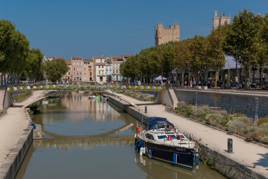 Narbonne is a town in southern France on the Canal de la Robine.