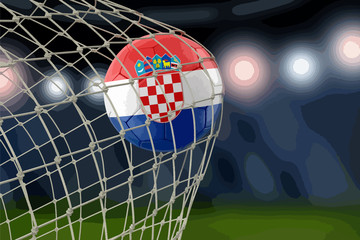 Croatian soccerball in net