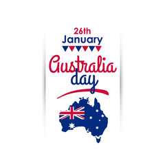 Happy Australia Day. Vertical greeting banner. Vector illustration.