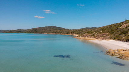 Aerial view of Whitehaven Beach in Queensland, Australia