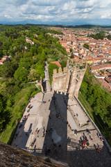 Vista panoramica di Valeggio sul Mincio, Verona, Veneto, Italia