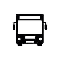 Bus Icon Vector. Black bus icon isolated on white background