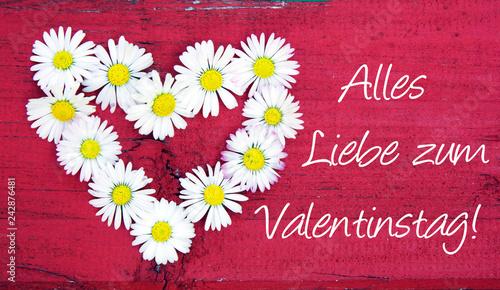 Valentinstag Alles Liebe Zum Valentinstag Herz Ganseblumchen