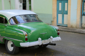 Old car in the old town of Havana