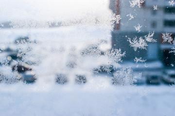 Ice pattern on window