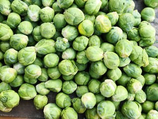 Brussels sprouts, full frame background