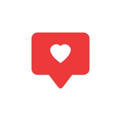 Like icon vector. Social media like vector icon. Notification Icon.