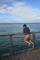 Pêche à la ligne à Noirmoutier, France