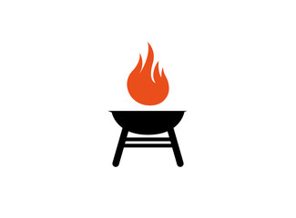 barbecue grills with fire logo