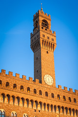 The Tower of Arnolfo dominating Palazzo Vecchio (Old Palace), Florencxe, Italy