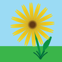 Plant-Summer Sunflower Cartoon