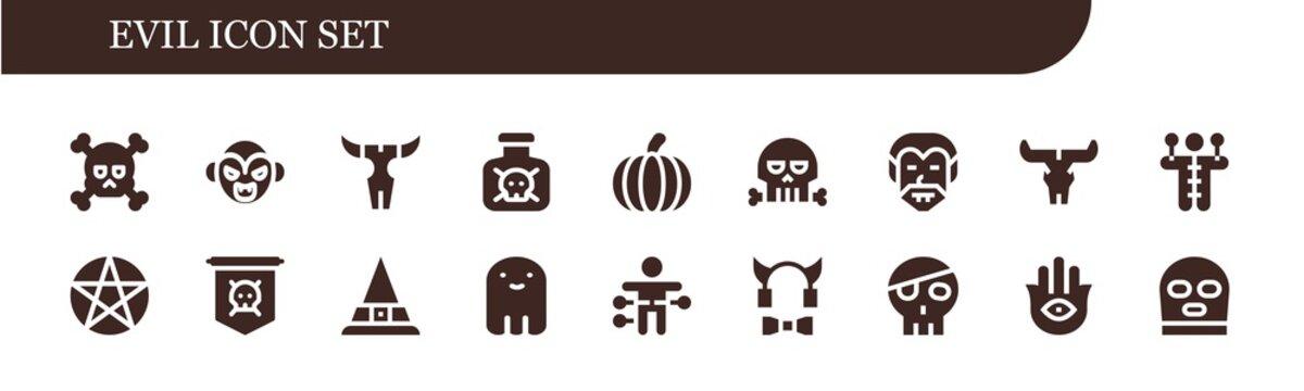evil icon set