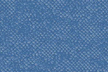 Blue fish or lezard scales for a seamless textured background