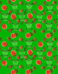 Basketball pattern or kids