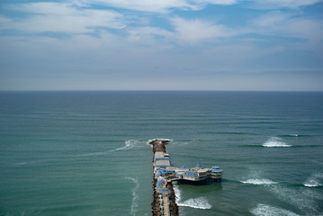 A view of the pier from the cliffs of Miraflores