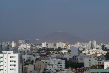 The Lima skyline early in the morning