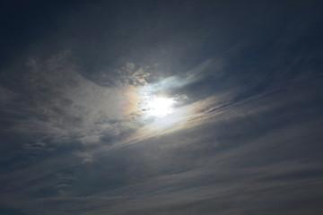 部分日食の日の空、2019年1月6日