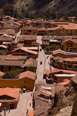 Ollantaytambo is a town and an Inca archaeological site in southern Peru some 72 km by road northwest of the city of Cusco.