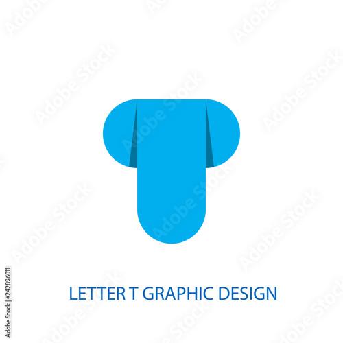 05130126d blue icon Letter T logo vector design.