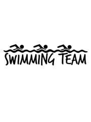 swimming team 3 freunde bahn schwimmen wasser meer urlaub ferien wellen cool design piktogramm baden schwimmbad sport spaß tauchen hallenbad clipart schwimmer