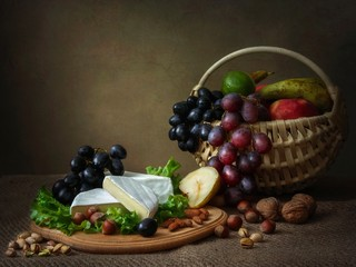 Camembert Cheese Still Life