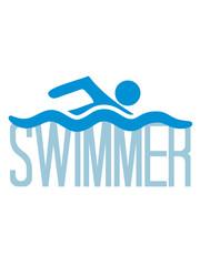 swimmer logo design schwimmen piktogramm baden schwimmbad sport spaß wasser wellen tauchen hallenbad clipart cool schwimmer