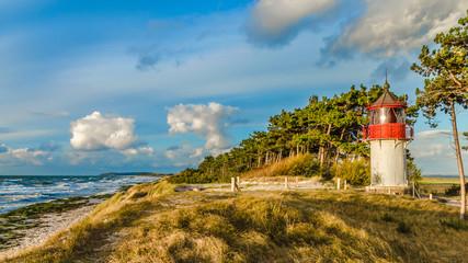 Hiddensee Ostseeküste kleiner Leuchttum Gellen