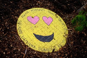 Smiley graffiti, face