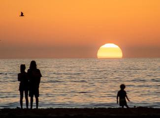 California perfect sunset