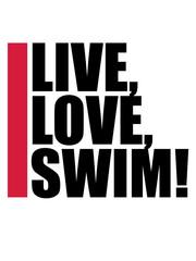 live love swim schwimmen liebe symbol urlaub meer ferien wasser wellen cool logo design piktogramm baden schwimmbad sport spaß tauchen hallenbad clipart schwimmer