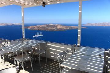 Fira Santorin Santorini Thera Thira Cyclades Mer Egée Grèce Caldeira Volcan