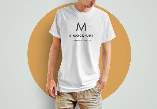 T-shirt and Packaging Mockup