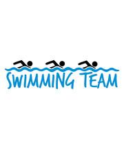 design swimming team 3 freunde bahn schwimmen wasser meer urlaub ferien wellen cool piktogramm baden schwimmbad sport spaß tauchen hallenbad clipart schwimmer