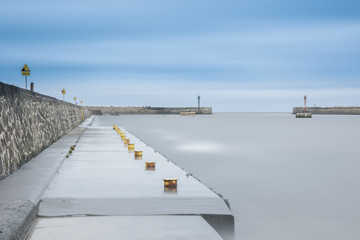 Long exposure harbour photography
