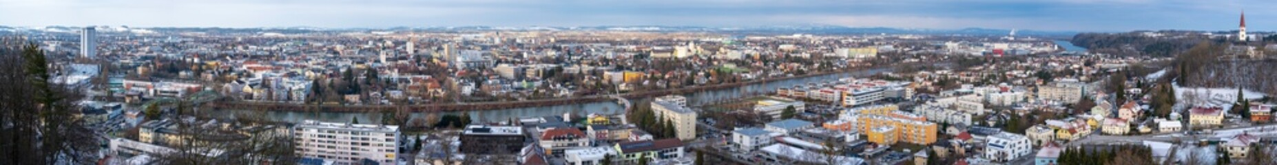 Foto op Canvas Wels Oberösterreich Panorama