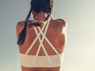 strong woman back