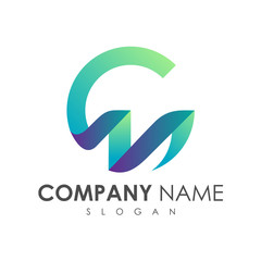 C and M logo, initial letter logo template