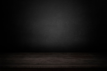 Fototapete - blank table with dark background