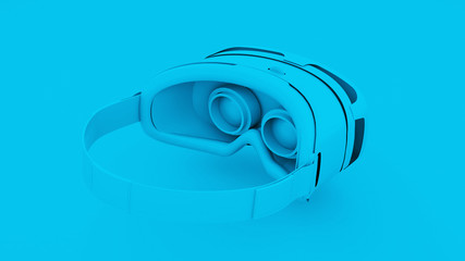 Blue Virtual Reality Glasses. 3D Illustration