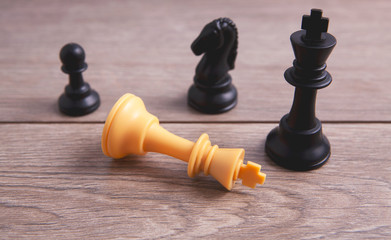 chess pieces victory