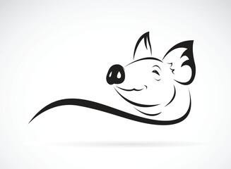 Vector of pig head design on white background. Animal farm. Easy editable layered vector illustration.