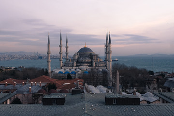 Sultanahmet in istanbul dusk