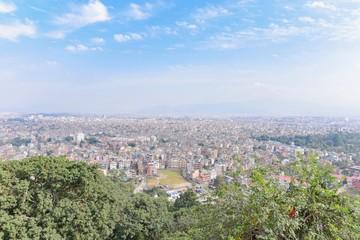 Kathmandu City View from Swayambhunath or Monkey Temple in Kathmandu Valley