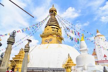 Swayambhunath or Monkey Temple, a World Heritage Site in Kathmandu Valley, Nepal