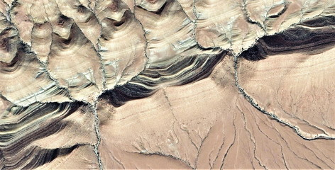 Steps, tribute to Pollock, abstract photography of the deserts of Africa from the air, aerial view, abstract expressionism, contemporary photographic art,