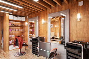 Barbershop Design - 3d visualization