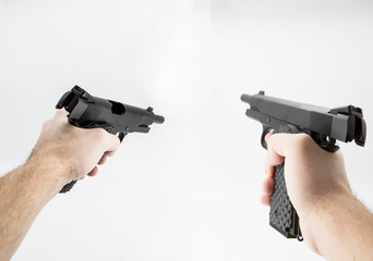 first person shooter pistol