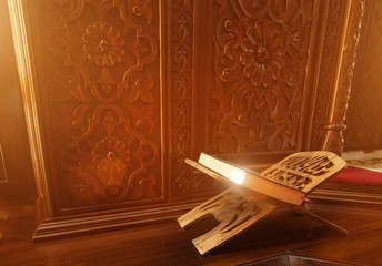 Holy Quran in a mosque