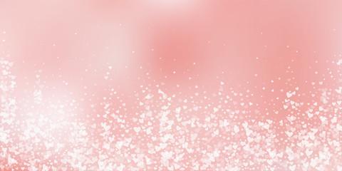 White heart love confettis. Valentine's day fallin