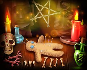 Voodoo Doll Mystique Poster